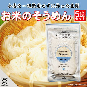 グルテンフリー そうめん お米のそうめん 米粉麺 小麦アレルギー 小林生麺 5食セット