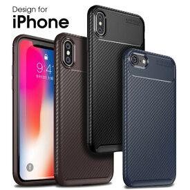 【耐衝撃】 iPhone XS Max XR ケース iPhoneX iPhone8 カバー iPhone7 Plus iPhone6 7Plus 8Plus 炭素繊維調 指紋防止 すべり止め 柔らかい シンプル 軽い 薄い 落下防止 画面保護 レンズ保護 iPhoneケース アイフォンカバー ソフトケース BEETLE