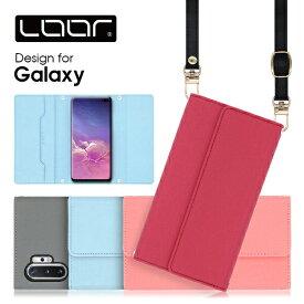 LOOF Strap Galaxy A41 S20 ケース クラッチバッグ風 ストラップ S10 S10+ スマホカバー A20 カバー S9 A7 A30 SCV43 ギャラクシー スマホケース SC-03L SC-04L S8 Note8 S7edge S8+ S9+ Feel2 S6 edge S5 ネックストラップ スマートフォンケース 首かけ 肩掛け シンプル