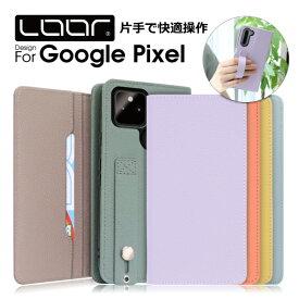 LOOF Hold Google Pixel 5 4a 5G 4 XL ケース 手帳型 Pixel4 XL カバー Pixel3a 手帳型ケース 本革 Pixel3 手帳型カバー 右利き グーグル ピクセル スマホケース カードポケット カード収納 シンプル レディース メンズ リング付き ベルト ループ 片手