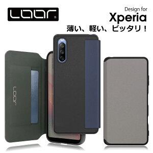 LOOF Skin Fit Xperia Ace II 1 III 10 III Lite 1 5 II SOG02 XZ3 SO-01L SOV39 エクスペリア 手帳型ケース 携帯ケース 背面 ケース カバー ハードケース 背面カバー ストラップホール 本革 PUレザー ブランド 人気