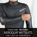 ウェットスーツ セミドライ ロングチェストジップ カスタムオーダー メンズ レディース インナー 5×3mm rock5surf ス…