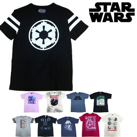 Star Wars (スター・ウォーズ) - メンズ 半袖Tシャツ R2-D2 C-3PO ダース・ベイダー ヨーダ アメコミ