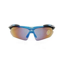ROCKBROS(ロックブロス)スポーツサングラス交換レンズ5枚付きブルー【コンビニ受取対応商品】【後払い対応】