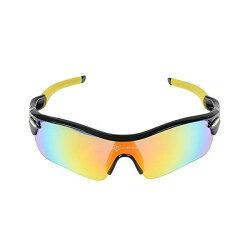 ROCKBROS(ロックブロス)偏光サイクリングバイクメガネスポーツサングラスゴーグル黒&黄5枚レンズ超軽量交換レンズ付き紫外線カット05P20Nov15
