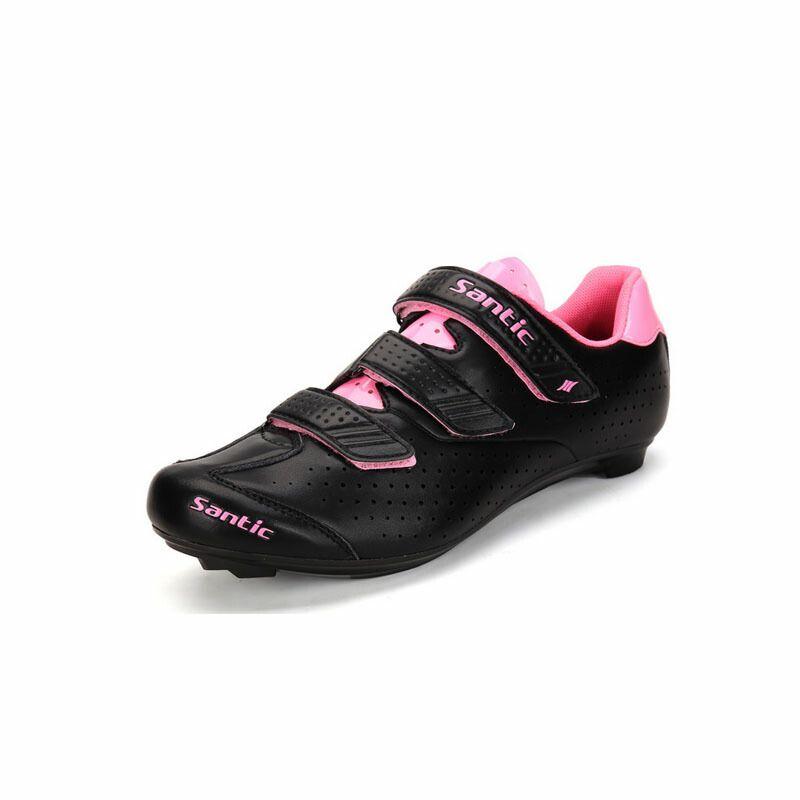 SANTINCSHIMANOシマノ SPD-SLサイクルシューズ蛍光ピンク通気性抜群ロードバイクビンディングペダル自転車サイクリングバイクロックシューズ