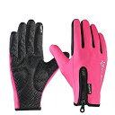 スマホ対応手袋グローブ保温性抜群滑り止めサイクリングスポーツアウトドアピンクROCKBROS(ロックブロス)【後払い対応】手袋