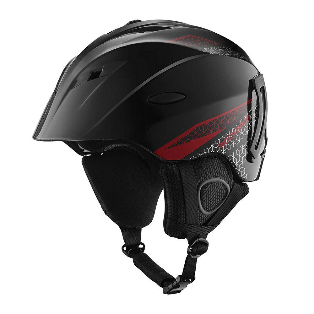 ROCKBROS(ロックブロス) ヘルメット スキー スノーボード サイズ調節可 安全対策 冬用 大人用 ブラック&レッド