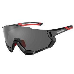 ROCKBROS(ロックブロス)スポーツサングラス偏光レンズハーフフレーム式サイクリングサングラス超軽量紫外線カットゴルフ自転車5枚専用交換レンズ収納ポーチ付