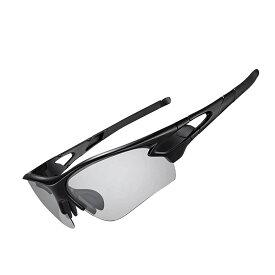 【ポイント2倍+300円クーポン配布中】ROCKBROS(ロックブロス)調光サングラス 偏光 スポーツサングラス 偏光レンズ 軽量 メンズ TACレンズ &TR90フレーム UV400 近視インナーフレーム付