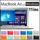 最新 Mac OS X と Windows10 が 同時に使える Macbook Air !! 11 inc / Corei5 / mem4GB / SSD12...