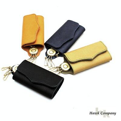 【メール便OK】ホークカンパニーHawkCompanyキーケース日本製本革グローブレザーメンズレディースブランド4連鍵牛革板ナスカンカジュアルビジネスフォーマルアメカジトラッドナチュラルギフトブラックブラウングリーンネイビー(12-6257)