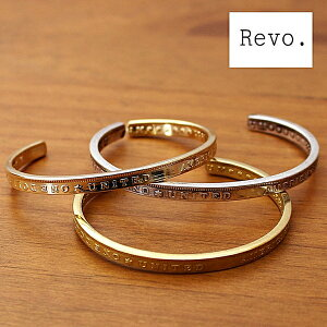 レヴォ Revo. レボ バングル ブレスレット 腕輪 真鍮 ブラス バングル 細身 USコイン モチーフ デザイン ゴールド シルバー 金 銀 重ね付け メンズ レディース ブランド カジュアル アメカジ ト