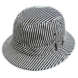 マストロ[MASTRO]「デニムクラシックバケットハット」(02H/HICKORY/ヒッコリー)(02-mh15008)ハット 帽子 メンズ レディース ブランド 日本製 デニム ヒッコリー ストライプ 柄 山陽ハイクリーナー