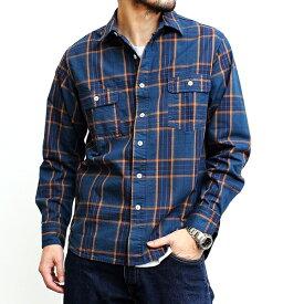 【送料無料】ジャパンブルージーンズ JAPAN BLUE JEANS チェックシャツ メンズ ブランド 長袖シャツ ワークシャツ チェック柄 トップス おしゃれ 上品 カジュアル アメカジ トラッド ナチュラル アウトドア ヴィンテージ 日本製 ネイビー イエロー 2021年 (62-j373554)