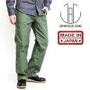 ジャパンブルージーンズ JAPAN BLUE JEANS ベイカーパンツ モダンミリタリー アーミー バックサテン ワイドパンツ ワークパンツ メンズ…