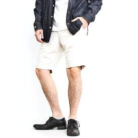ショーツ メンズ ジャパンブルージーンズ JAPAN BLUE JEANS ブランド ニーショーツ ショートパンツ ハーフパンツ 半ズボン 膝上丈 カジュアル フォーマル 日本製 ヒッコリー ストライプ 生成り コットン リネン デニム (62-j322411)(62-j327511)(62-j326512)(62-shorts)
