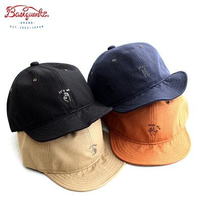 フィールドハンドサインボールキャップベーシックエンチBasiquentiリバーアップRIVER-UPメンズレディースユニセックス帽子ブランドキャップ刺繍ワンポイントリップストップ折り畳み可能フリーサイズベージュブラックネイビーオレンジ(09-bchs90461)