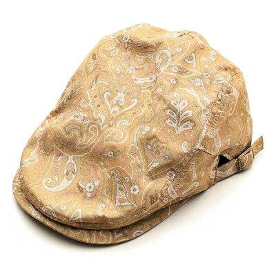 【1つまでメール便OK】ハンチング帽子メンズレディースブランドベーシックエンチBASIQUENTIリバーアップRIVER-UPペイズリー柄総柄鳥打帽アンティークおしゃれカジュアルアメカジルード綺麗めヴィンテージベージュブラック(09-bcre70131)