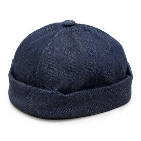 フィッシャーマンキャップ デニム ベーシックエンチ BASIQUENTI リバーアップ RIVER-UP メンズ レディース ブランド 帽子 つば無し 帽子 ツバなし キャップ 無地 おしゃれ カジュアル アメカジ ルード ヴィンテージ ブラック インディゴ ライトブルー (09-bcks52778)