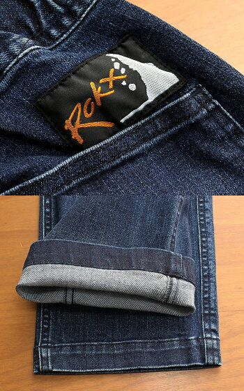 Rokxロックスクライミングパンツデニムファティーグパンツストレッチデニムスリムテーパードパンツジーパンジーンズデニムパンツユーズド加工色落ち加工イージーパンツ細身カジュアルアウトドアアメカジトラッドルードヴィンテージ(66-rxms191008)