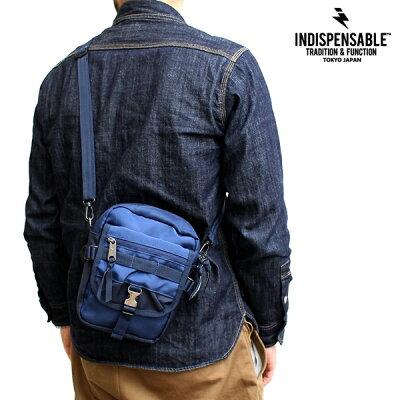 ミニショルダーINDISPENSABLEインディスペンサブルIDPクイックショルダーバッグポーチBUDDYバディメンズレディースブランド鞄カジュアルアメカジミリタリーアウトドアストリートブラック黒カーキオリーブ緑ネイビーブルー青(15-14042400)