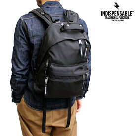 リュック INDISPENSABLE インディスペンサブル IDP デイパック FUSION フュージョン メンズ レディース ブランド 鞄 バッグ バックパック カジュアル アメカジ ストリート アウトドア ビジネス フォーマル ブラック 黒 カーキ オリーブ 緑 ブルー ネイビー 青 (15-14041500)