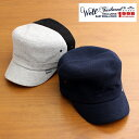 【あす楽対応】ウェルテイラード Well-Tailored 帽子 メンズ レディース ブランド ワークキャップ コットン パイル タオル生地 無地 フリーサイズ 大きいサイズ サイズ調節可能 シンプル