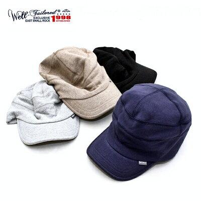 スウェットキャップウェルテイラードWell-Tailoredスウェットワークキャップメンズレディースブランド帽子キャップ裏毛無地フリーサイズ大きいサイズ被り心地抜群カジュアルアメカジナチュラルトラッドベージュブラックグレーネイビー(07-kkc282)