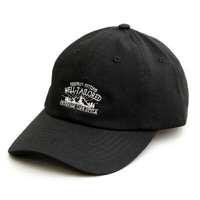 メンズレディースウェルテイラードWell-Tailored帽子ブランドローキャップ刺繍コットンツイルベースボールキャップBBキャップ6パネルツバ長め被り浅めフリーサイズおしゃれカジュアルアメカジアウトドアベージュブラックカーキネイビー(07-chc015)