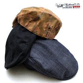 ウェルテイラード Well-Tailored 帽子 ハンチング 8パネル ブラック ネイビー キャンバス デニム カモフラージュ 迷彩 ツイル メンズ レディース ブランド カジュアル アメカジ トラッド ワーク ミリタリー ルード ヴィンテージ (07-kku016)≪あす楽対応≫