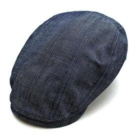 ウェルテイラード Well-Tailored 帽子 ハンチング 8パネル メンズ レディース ブランド カジュアル アメカジ トラッド ワーク ミリタリー ルード ヴィンテージ デニム (07-kku016)