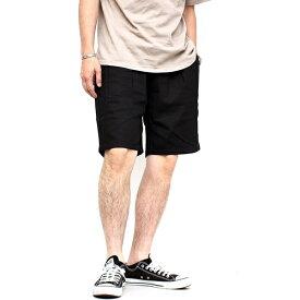 シェフショーツ ショートパンツ 無地 コットンツイル ソリッド メンズ レディース ユニセックス ボトムス 半ズボン イージーパンツ タック入り おしゃれ トレンド カジュアル アメカジ ストリート ブラック ネイビー オリーブ パープル 黒 紺 緑 紫 (30-117009h)
