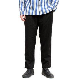 TRストレッチ ワイドテーパードパンツ メンズ 男性用 ボトムス ズボン イージーパンツ スラックス トラウザース タックパンツ ワイドパンツ アンクルパンツ 無地 おしゃれ 上品 トレンド カジュアル トラッド 綺麗め イロン IRON ブラック ガンクラブチェック (30-307002h)