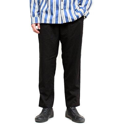 TRストレッチワイドテーパードパンツメンズ男性用ボトムスズボンイージーパンツスラックストラウザースタックパンツワイドパンツアンクルパンツ無地おしゃれ上品トレンドカジュアルトラッド綺麗めイロンIRONブラックガンクラブチェック(30-307002h)