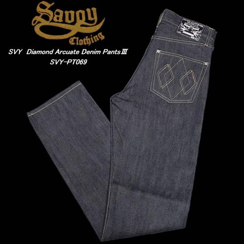 SAVOY CLOTHINGサヴォイクロージング◆SVY Diamond Arcuate Denim Pants3◆SVY-PT069