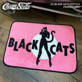 CREAM SODAクリームソーダ◆CS BLACK CATSフロアマット◆PD20GS-04BC
