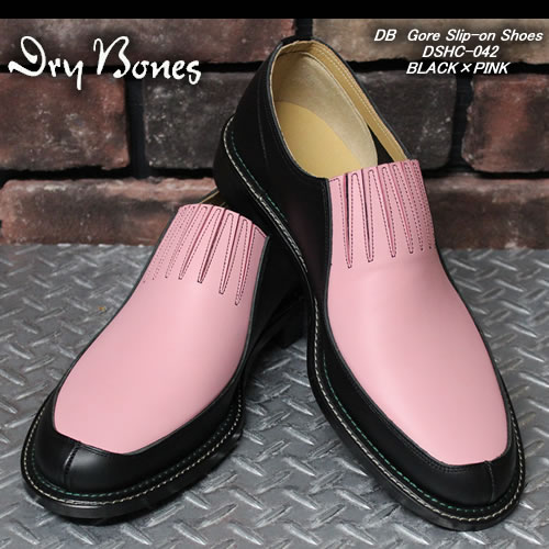DRY BONESドライボーンズ◆DB Gore Slip-on Shoes◆◆BLACK×PINK◆DSHC-042BLACK