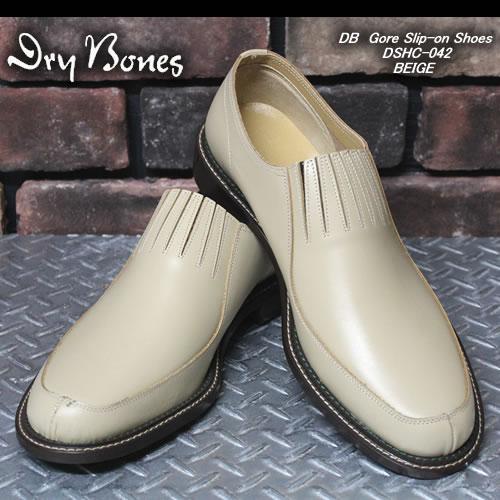 DRY BONESドライボーンズ◆DB Gore Slip-on Shoes◆◆BEIGE◆DSHC-042BEIGE