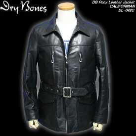 DRY BONESドライボーンズ◆DB Pony Leather Jacket ◆◆CALIFORNIAN◆DL-042C