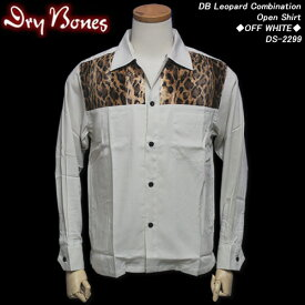 DRY BONESドライボーンズ◆DB Leopard CombinationOpen Shirt◆◆OFF WHITE◆DS-2299
