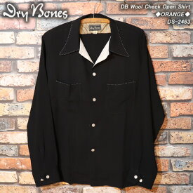 DRY BONESドライボーンズ◆DB Hand Stitch2Tone Open Shirt◆◆BLACK◆DS-2451