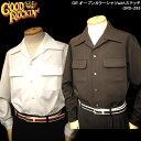 GOOD ROCKIN'グッドロッキン◆GR オープンカラーシャツwithステッチ ◆◆BLACK・WHITE◆GRS-295