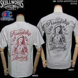 SKULL WORKSスカルワークススカルワークス・セカンド◆SW スワロー&マリアTシャツ◆ 211713