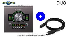 Universal Audio(ユニバーサルオーディオ) APOLLO TWIN X / DUO【数量限定でCalDigit Thunderbolt 3ケーブル(Passive 0.7m)をプレゼント中!】【DTM】【オーディオインターフェイス】【エフェクトプラグイン】