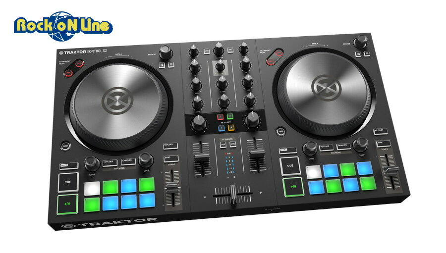 【クーポン配布中!】Native Instruments(ネイティブインストゥルメンツ) TRAKTOR KONTROL S2 MK3【PCDJ】【DJコントローラー】