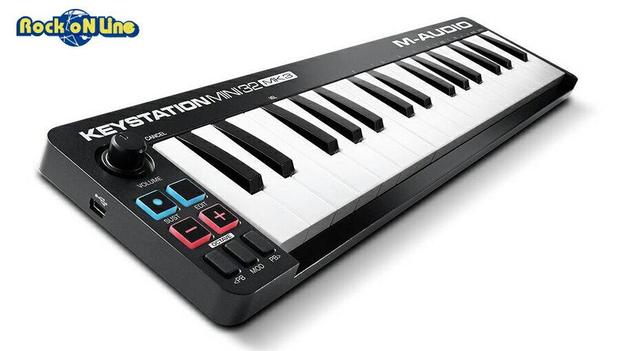 【クーポン配布中!】M-AUDIO(エムオーディオ) Keystation Mini 32 MK3【次回入荷未定、ご注文(ご予約)受付中】【MIDIキーボード】