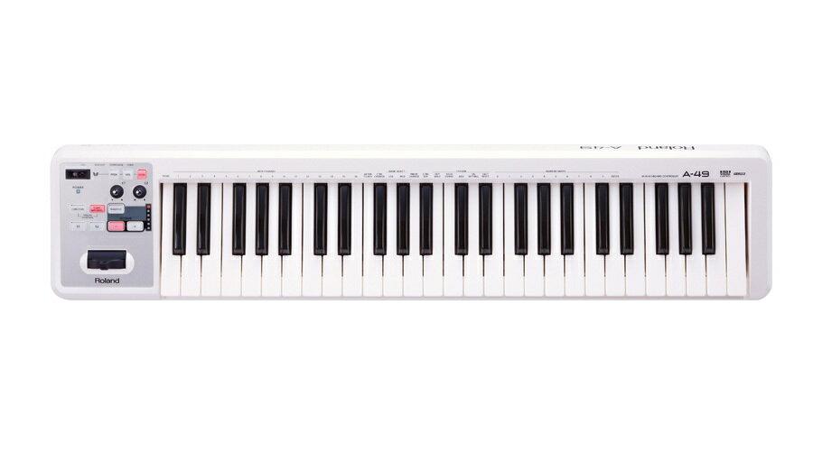 【クーポン配布中!】ROLAND(ローランド) A-49-WH【DTM】【MIDIキーボード】