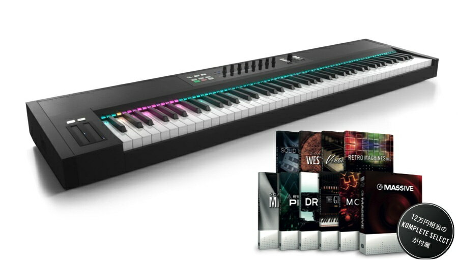 Native Instruments KOMPLETE KONTROL S88【UVI Grand Piano Model Dプレゼント!】