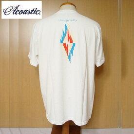 【SALE・セール】 アコースティック ACOUSTIC ポケットTシャツ メンズ Living for today 半袖Tシャツ ac9011 -ホワイト